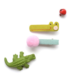 alligator pom clips // hello shiso hair accessories for girls