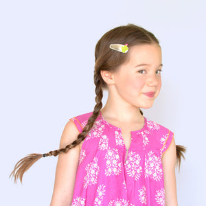 cactus clips // hello shiso hair accessories for girls