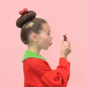 christmas tree clips // hello shiso hair accessories for girls