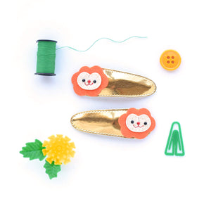 lion clips // hello shiso hair accessories for girls