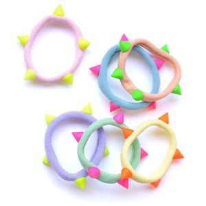 pastel/neon dome stud ponytail holders // hello shiso hair accessories for girls