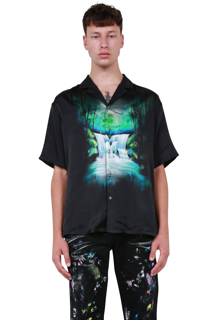 Waterfall Holiday Shirt - Black Multicolour