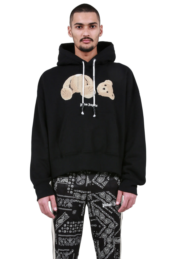 Kill The Bear Cropped Hoodie - Black