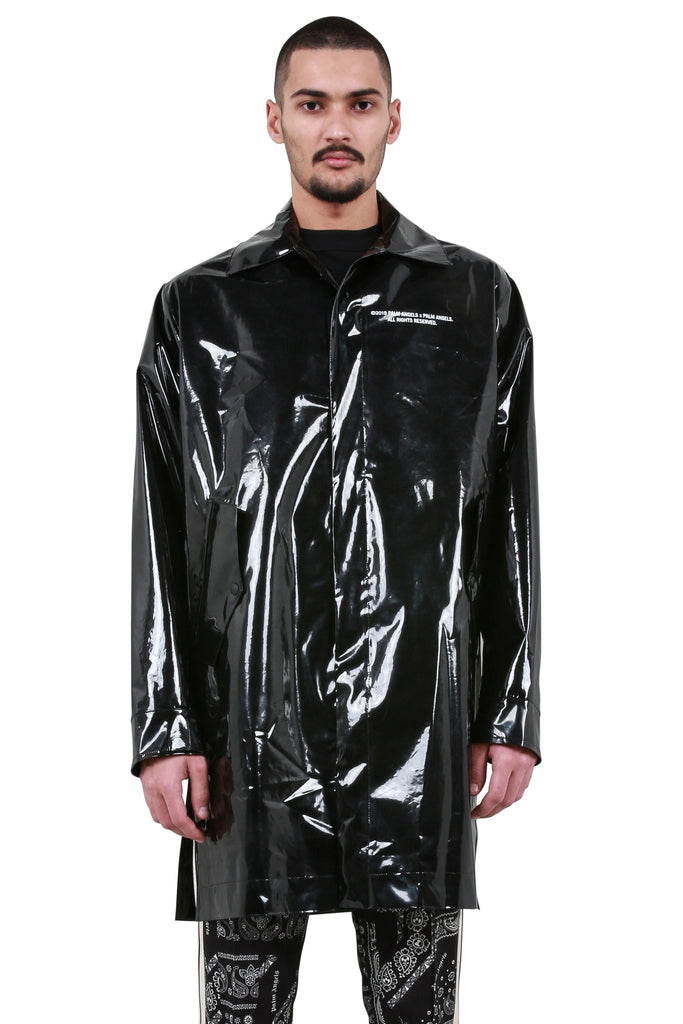 PALM ANGELS: 'Palm x Palm' Raincoat - Black | LESSONS