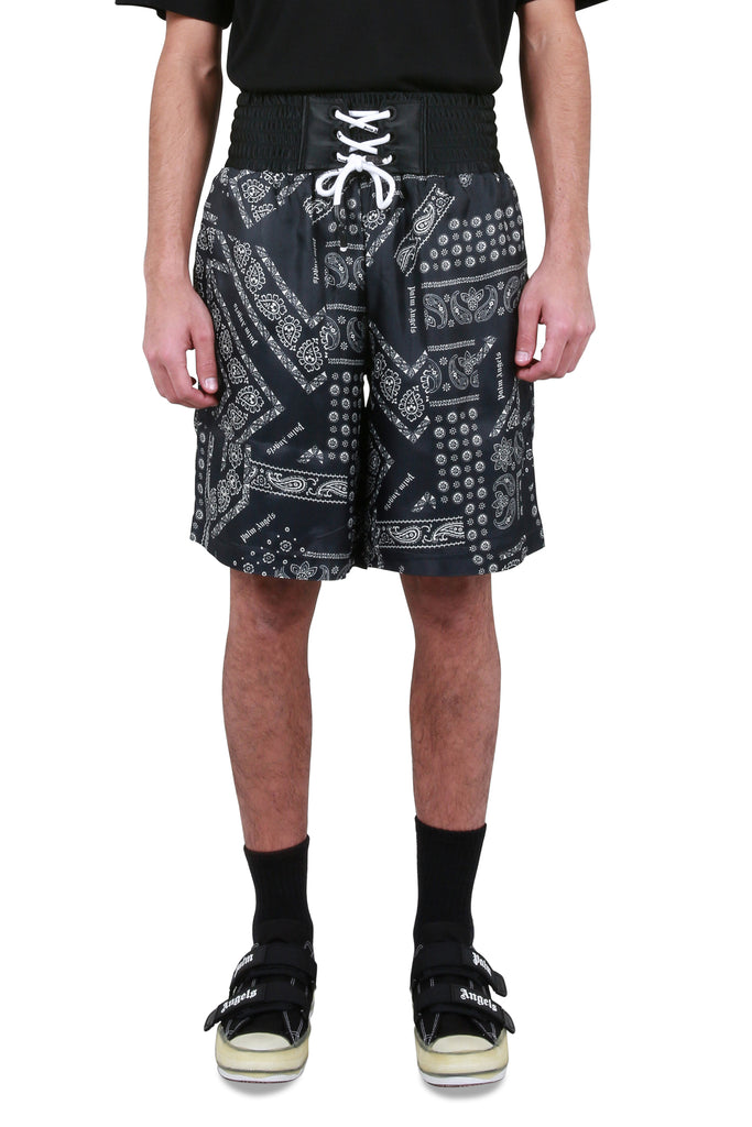 PALM ANGELS: Boxer Bandana Shorts | LESSONS