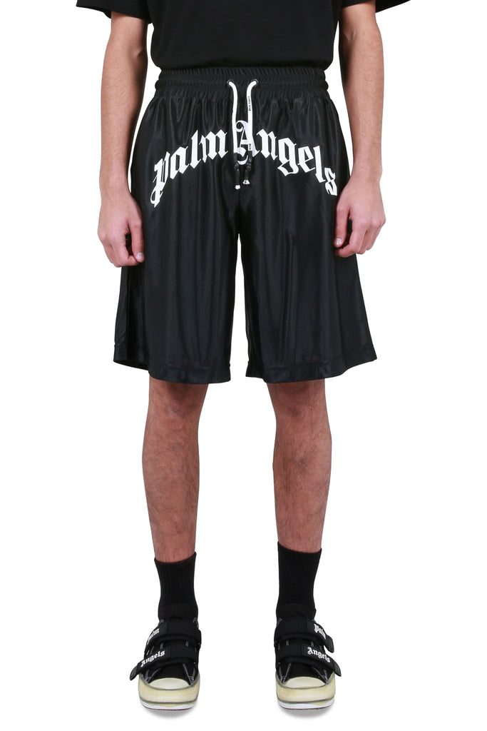 Logo Mesh Shorts - Black