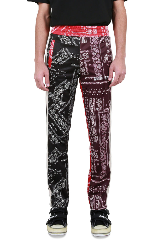 PALM ANGELS: Bandana Classic Track Pants - Multicolor | LESSONS