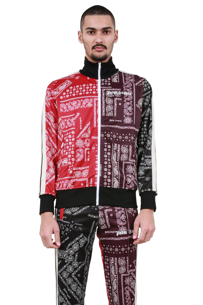 PALM ANGELS: Bandana Track Jacket - Multicolor | LESSONS