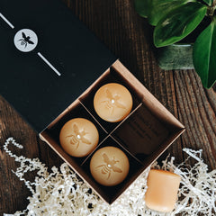 beeswax votives in gift box