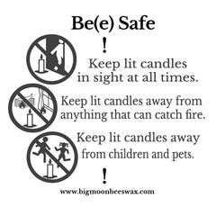 candle safety instructions