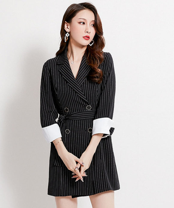 Ally Stripe Blazer Dress