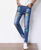 Embry Printed Slim Fit Jeans (Non-Returnable)