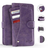 ZTE Max XL / Blade X Max / Blade Max 3 / Max Blue - Purple Slide Out Pocket Wallet Pouch in ZV Blister Packaging