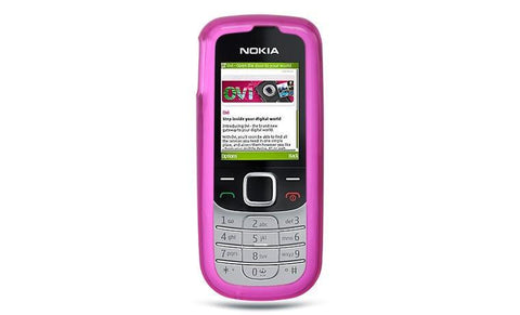 Nokia 2330 Luxmo Crystal Skin Case Hot Pink Tinted