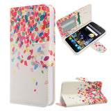 Alcatel Fierce 4 / One Touch Allura / Pop 4+ - Design Wallet Flap Pouch with TPU Inside - Colorful Leaves