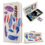 Alcatel Idol 4 / Nitro 49 - Design Wallet Flap Pouch with TPU Inside - Colorful Feathers