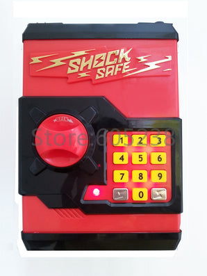 Gift For kids RED Shock Safe Coin Bank / Electronic Locks Code Money Box - Sharp Shock Protection-Dollar Bargains Online Shopping Australia