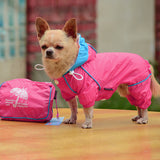 Small Pet Dog Hoody Jacket Rain Coat Waterproof Clothes Slicker Jumpsuit Apparel-Dollar Bargains Online Shopping Australia