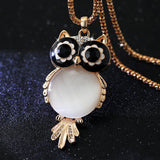 New Brand Fashion Charms Crystal Owl Necklace Gem Cubic Zircon Diamond 18K Gold Long Chain Necklaces&Pendants Women Jewelry A329-Dollar Bargains Online Shopping Australia