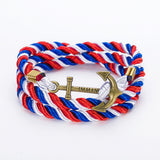 DIY Rope Black Blue Anchor Bracelet Fashion Women Men Hooks Bracelet Bangle Charm Bracelets Jewelry-Dollar Bargains Online Shopping Australia