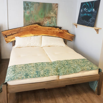 Natural Mattress Bed Frame Live Edge Bed Frame
