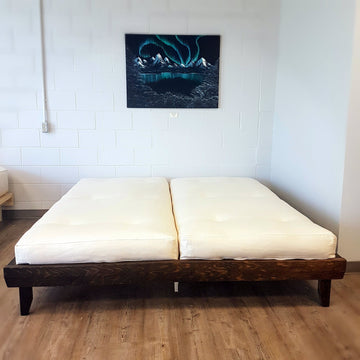 Natural Mattress Bed Frame Single Deluxe Platform Bed Frame