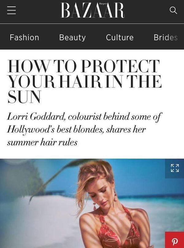 HOW TO PROTECT YOUR HAIR IN THE SUN