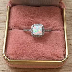 Opal Engagement Ring - Rings - AlphaVariable