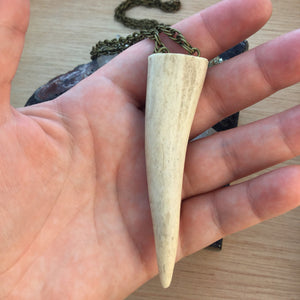 Antler Necklace - Necklace - AlphaVariable