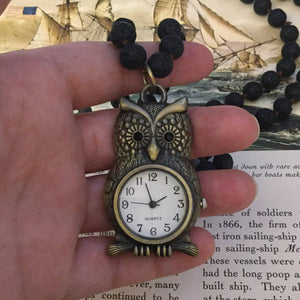 Owl Watch Necklace - Necklace - AlphaVariable