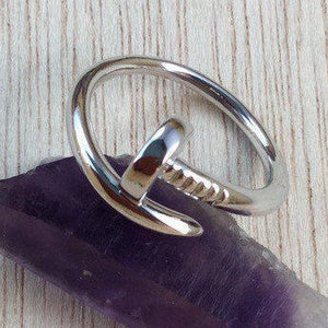 Sterling Silver Nail Ring - Sterling Silver Rings - AlphaVariable