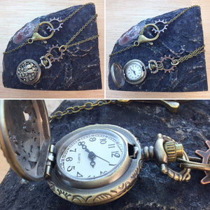 Bird Pocketwatch Necklace - Necklace - AlphaVariable
