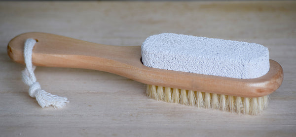 Boar Bristle Pumice Brush with Handle