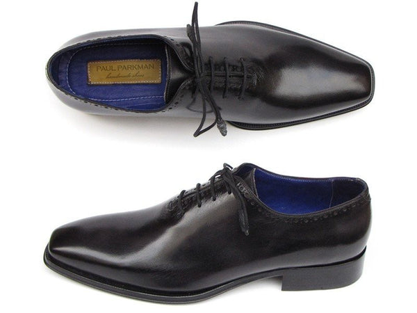 plain toe while cut black oxford shoes