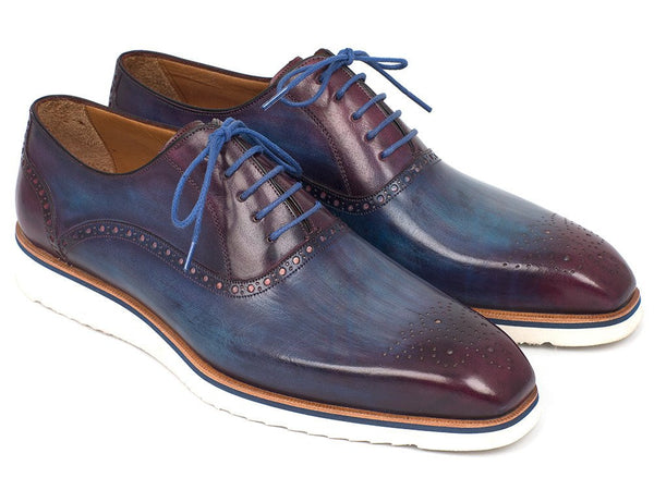blue purple casual mens oxford shoes