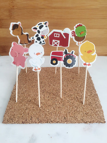 Farm Animals, Cupcake Toppers (24)