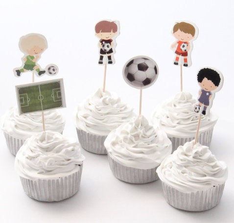 Soccer Player Cake, Cupcake Toppers (24)
