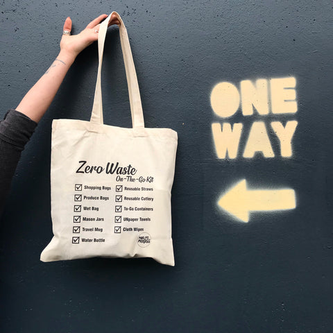 ZERO WASTE ON-THE-GO REMINDER TOTE
