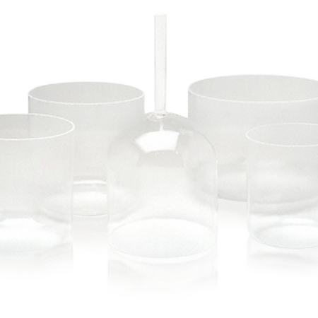 Optically Clear Crystal Singing Bowl - 6""