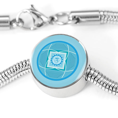 Throat (Fifth) Chakra Charm & Bracelet