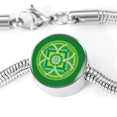 Image of Heart (Fourth) Chakra Charm & Bracelet