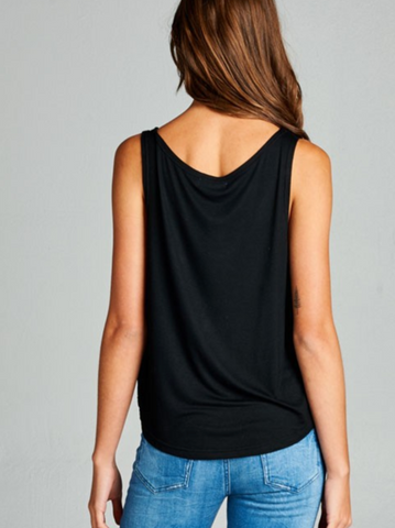 Black & Gold Om Yoga Tank