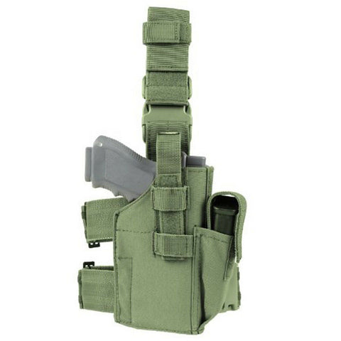 Condor - OLIVE Tactical Nylon Drop Leg Pistol Holster - TLH