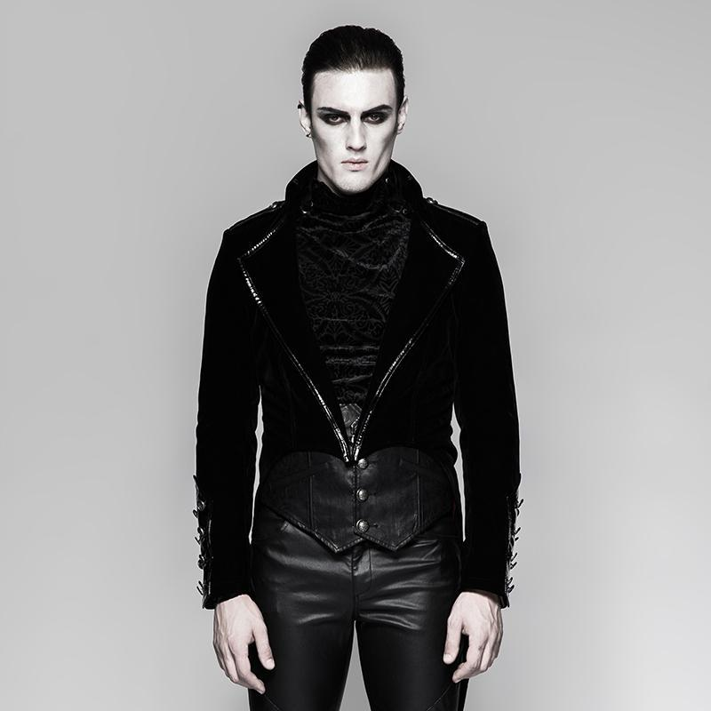 Men's Gothic Military Swallow-tail Dress Jacket - PunkDesign