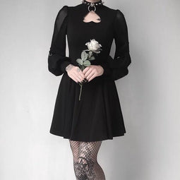Women's Heart Peekaboo Punk Dress-Punk Design