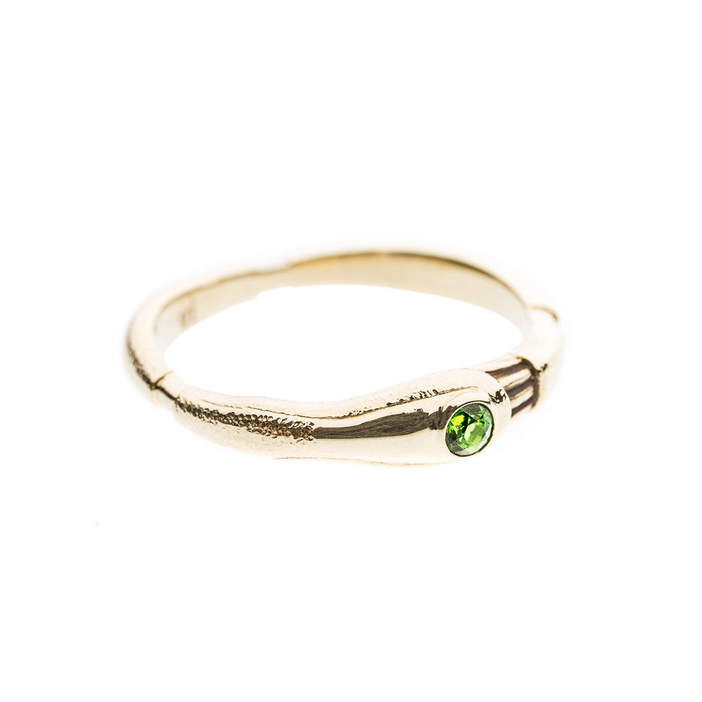 Rings - 14k Yellow Gold Ring With Chrome Diopside