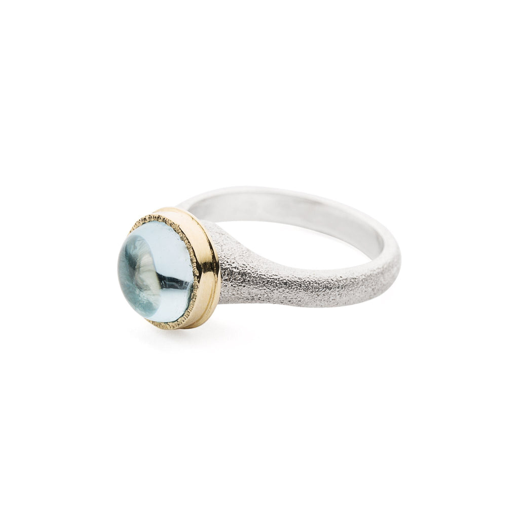 Rings - Silver Gold Topaz Ring