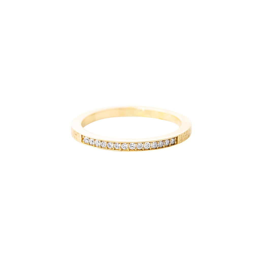 Rings - Yellow 18k Gold Ring With 14 Diamonds
