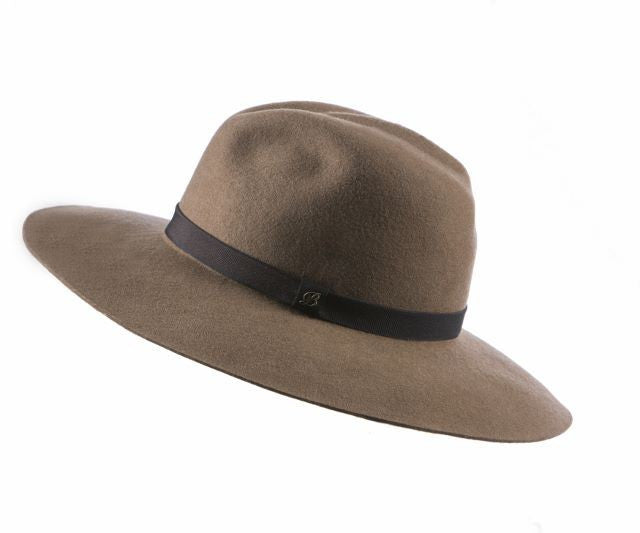 Lombardia felted hat, L, Camel