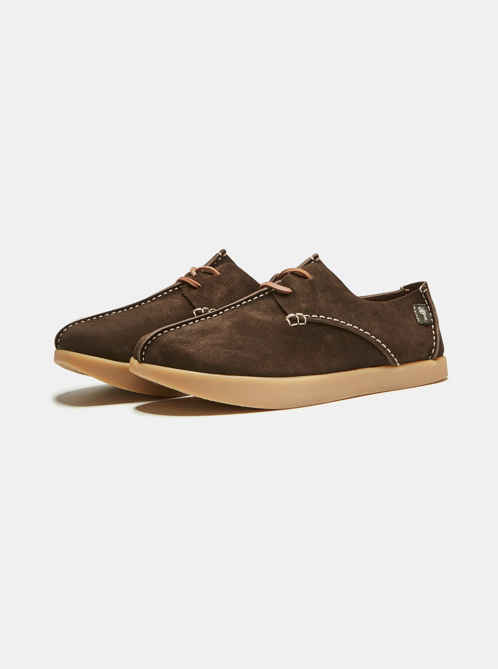 Lennon Suede Negative Heel Chocolate